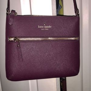 Brand New Kate Spade Deep Purple Crossbody